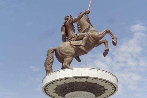 De standbeelden van Skopje