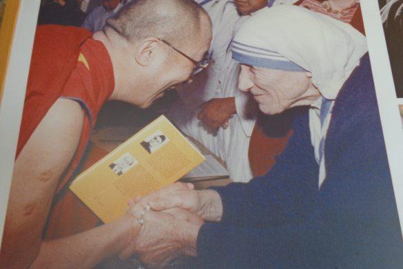 Moeder Teresa en de Dalai Lama