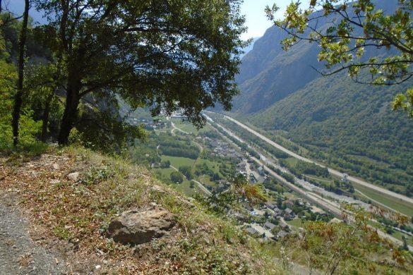 uitzicht bovenaan de Lacets de Montvernier