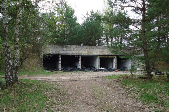 Een verlaten vliegveld in het bos