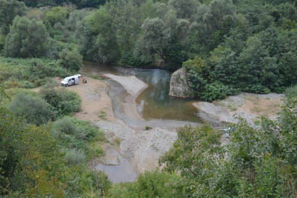 vlakbij de grens met Bulgarije