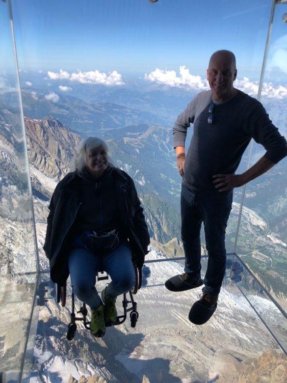 met de kabelbaan naar de Mont Blanc