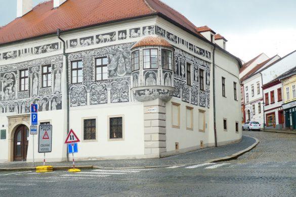 op het centrale plein Třebíč