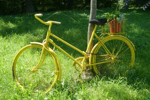fietsen vanaf minicamping in Pilsen