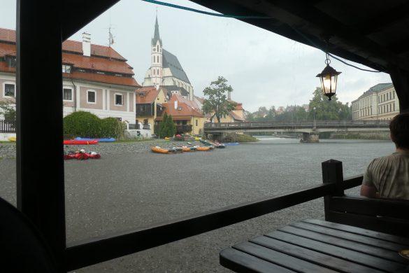 regen in Český Krumlov