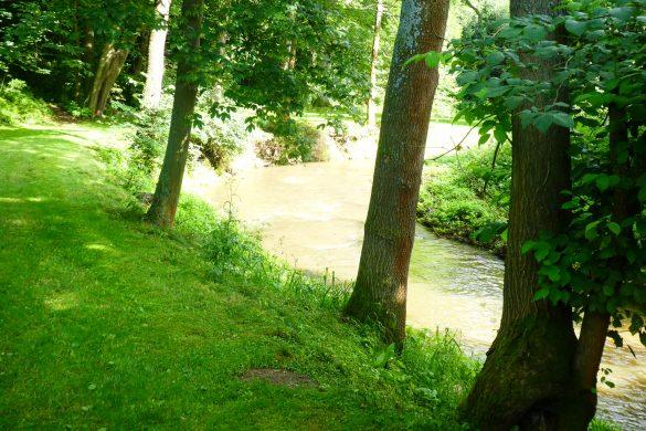 riviertje op minicamping in Tsjechie