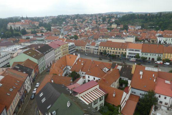 uitzicht op Třebíč