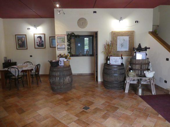 de winkel van de wijnboerderij