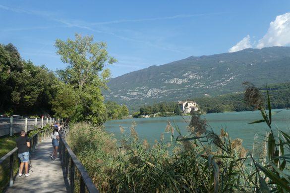 langs het Lago di Toblino