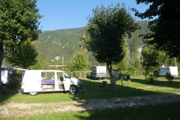 onze plek op Minicamping aan het Lago di Corlo