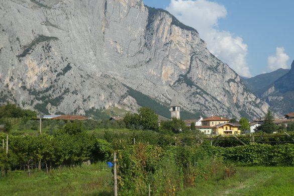 uizicht in de Valle del Sarca