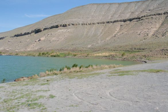 zwemmogelijkheid in Acigöl kratermeer