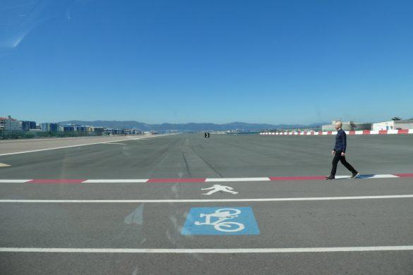het vliegveld van Gibraltar