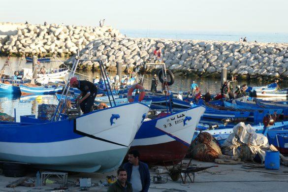 vissershaven in Fnideq